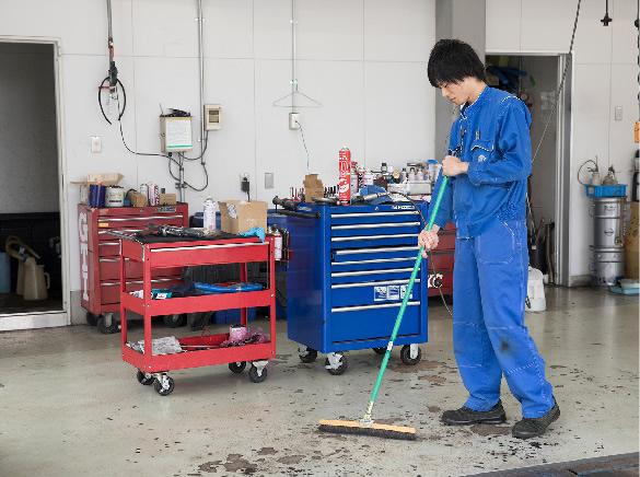 1-工場の清掃