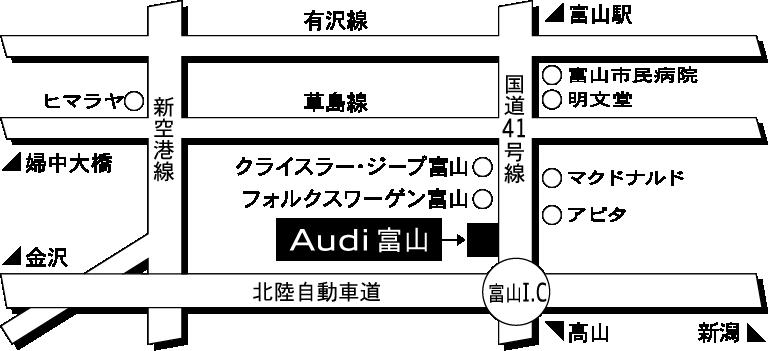 ファーレン富山 Audi富山地図
