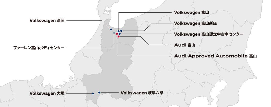 ファーレン富山:店舗マップ